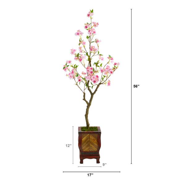 56 Cherry Blossom Artificial Tree in Decorative Planter - SKU #T2496 - 1