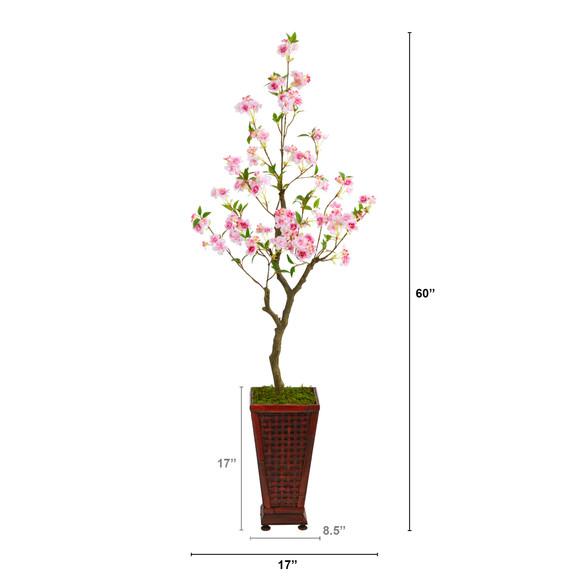 5 Cherry Blossom Artificial Tree in Decorative Planter - SKU #T2497 - 1