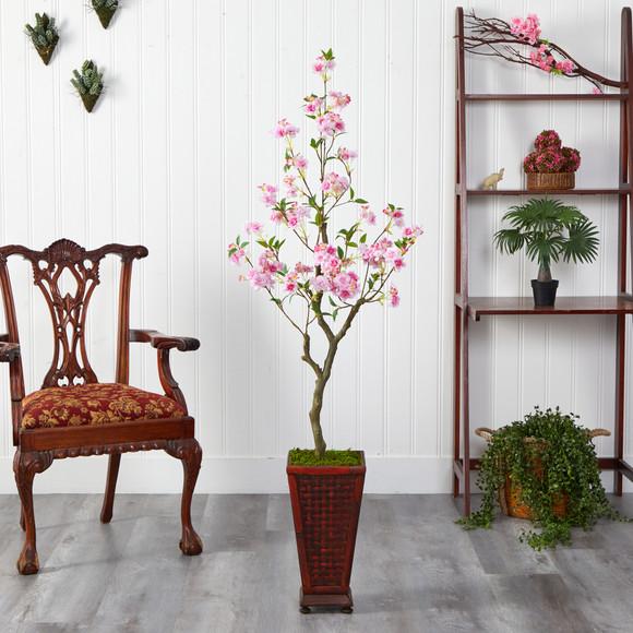 5 Cherry Blossom Artificial Tree in Decorative Planter - SKU #T2497 - 2