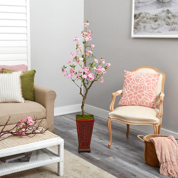5 Cherry Blossom Artificial Tree in Decorative Planter - SKU #T2497 - 3