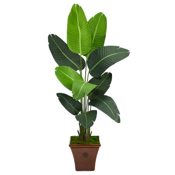 5.5 Travelers Palm Artificial Tree in Brown Planter - SKU #T2507