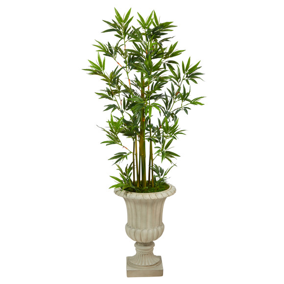 4.5 Bamboo Palm Artificial Tree in Sand Finished Urn - SKU #T2520