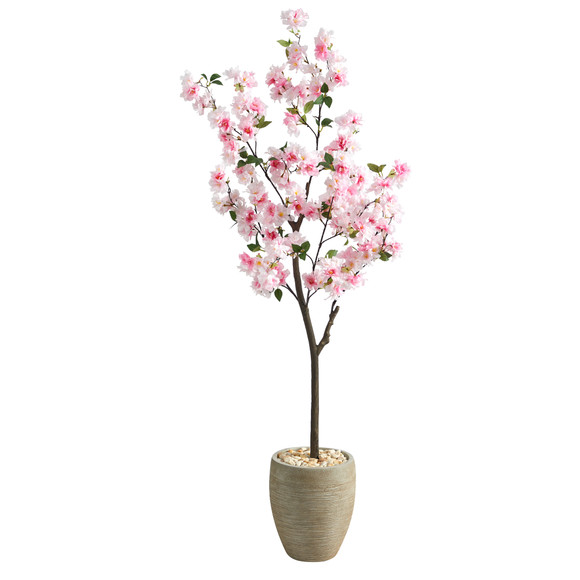 5.5 Cherry Blossom Artificial Tree in Sand Colored Planter - SKU #T2532