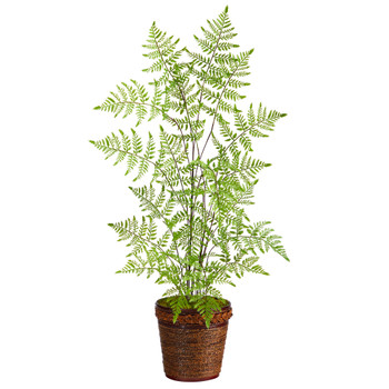 3 Ruffle Fern Artificial Tree in Basket - SKU #T2537