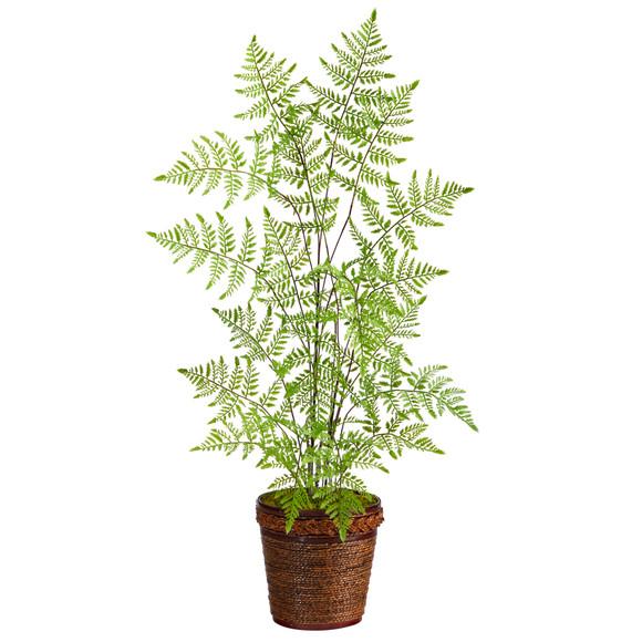 3 Ruffle Fern Artificial Tree in Basket - SKU #T2537