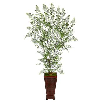 5 Ruffle Fern Artificial Tree in Decorative Planter - SKU #T2543