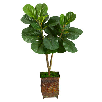 2.5 Fiddle Leaf Fig Artificial Tree in Decorative Planter - SKU #T2569