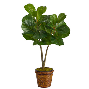 33 Fiddle Leaf Fig Artificial Tree in Basket - SKU #T2573