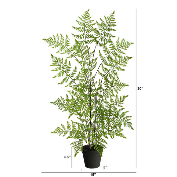 2.5 Ruffle Fern Artificial Tree - SKU #T2727 - 1