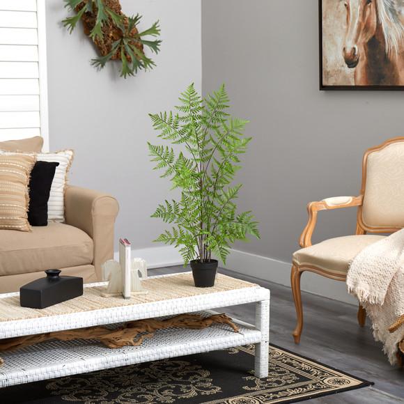 2.5 Ruffle Fern Artificial Tree - SKU #T2727 - 3