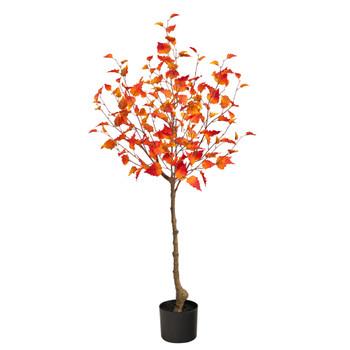 4 Fall Birch Artificial Autumn Tree - SKU #T2785