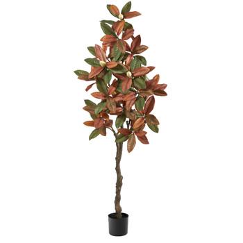 6 Fall Magnolia Artificial Tree - SKU #T2786