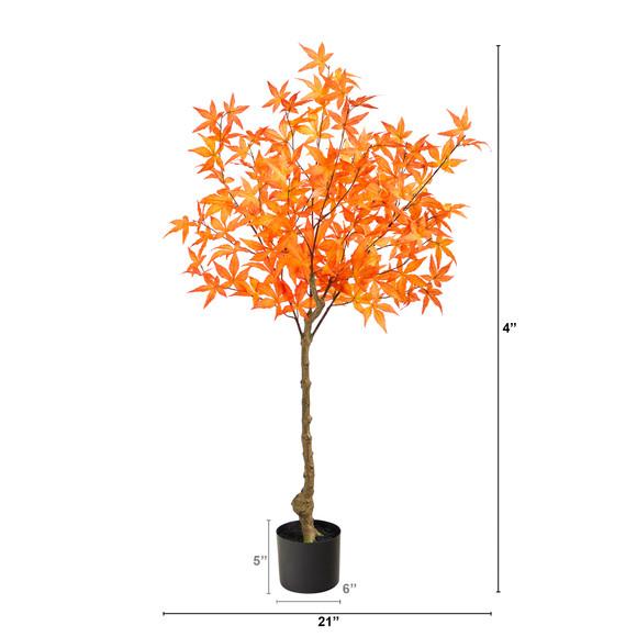 4 Autumn Maple Artificial Tree - SKU #T2795 - 5