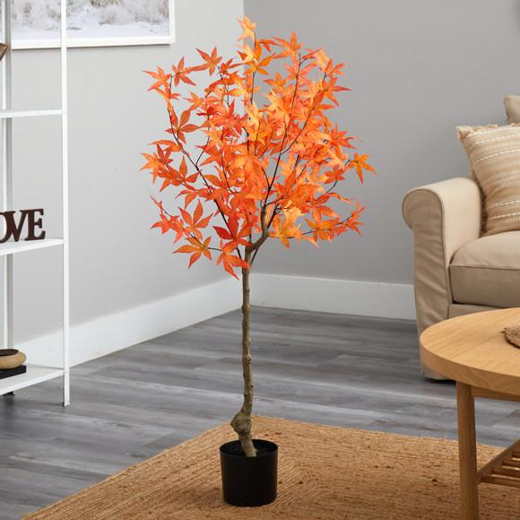 4 Autumn Maple Artificial Tree - SKU #T2795 - 6