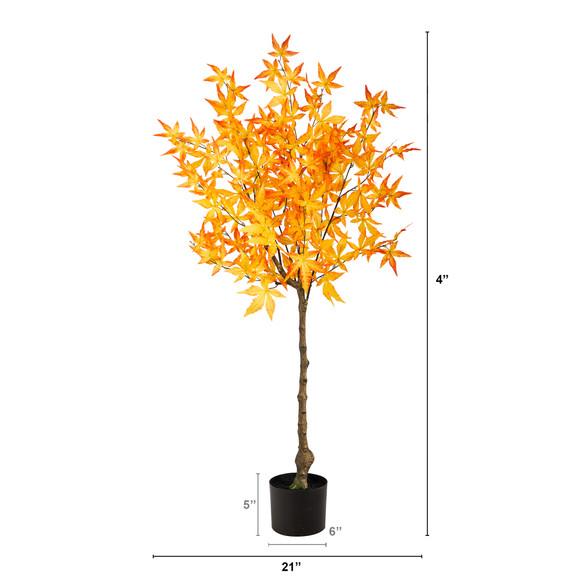 4 Autumn Maple Artificial Tree - SKU #T2795 - 1