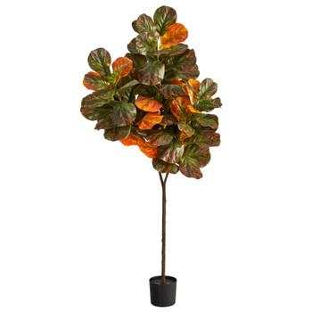 6 Autumn Fiddle Leaf Artificial Tree - SKU #T2799