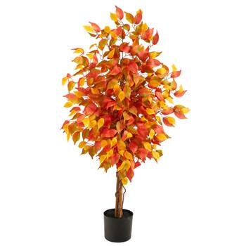 4 Autumn Ficus Artificial Fall Tree - SKU #T2800