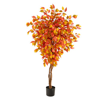 5 Autumn Ficus Artificial Fall Tree - SKU #T2801