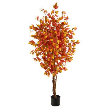 6 Autumn Ficus Artificial Fall Tree - SKU #T2802