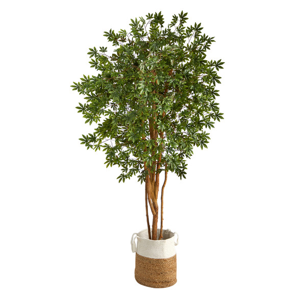 6 Japanese Maple Artificial Tree in Handmade Natural Jute and Cotton Planter - SKU #T2899