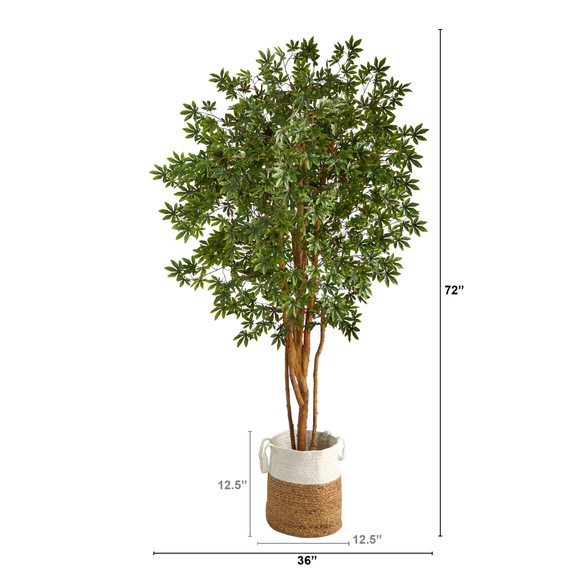 6 Japanese Maple Artificial Tree in Handmade Natural Jute and Cotton Planter - SKU #T2899 - 1
