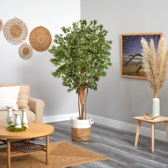 6 Japanese Maple Artificial Tree in Handmade Natural Jute and Cotton Planter - SKU #T2899 - 3