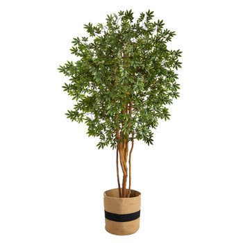 6 Japanese Maple Artificial Tree in Handmade Natural Cotton Planter - SKU #T2900