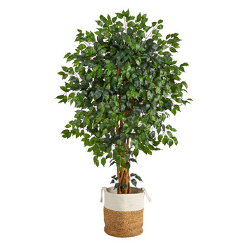 5.5 Palace Ficus Artificial Tree with in Handmade Natural Jute and Cotton Planter - SKU #T2954