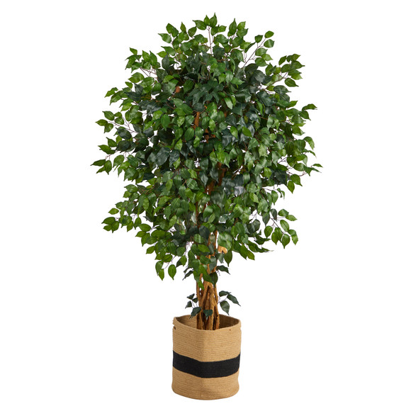 5.5 Palace Ficus Artificial Tree in Handmade Natural Cotton Planter - SKU #T2955