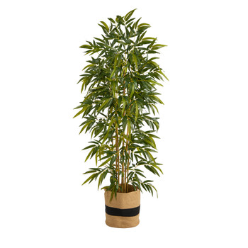 75 Bamboo Artificial Tree in Handmade Natural Cotton Planter - SKU #T2978