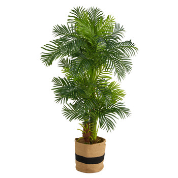 6 Hawaii Artificial Palm Tree in Handmade Natural Cotton Planter - SKU #T2984