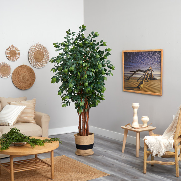 7 Sakaki Artificial Tree in Handmade Natural Cotton Planter - SKU #T2988 - 3