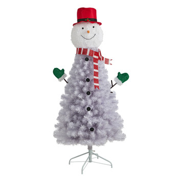 5 Snowman Artificial Christmas Tree with 408 Bendable Branches - SKU #T3040