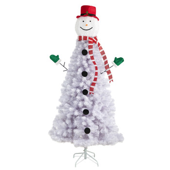 6.5 Snowman Artificial Christmas Tree with 804 Bendable Branches - SKU #T3041
