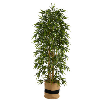 6 Bamboo Artificial Tree with 1024 Bendable Branches in Handmade Natural Cotton Planter - SKU #T3054