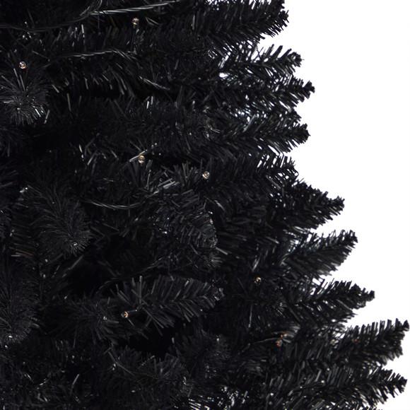 4 Black Halloween Artificial Christmas Tree in Urn with 100 Orange LED Lights - SKU #T3261 - 4