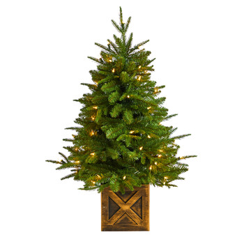 3 Finland Fir Tree in Decorative Planter with 272 Bendable Branches and 50 Warm White Lights - SKU #T3266