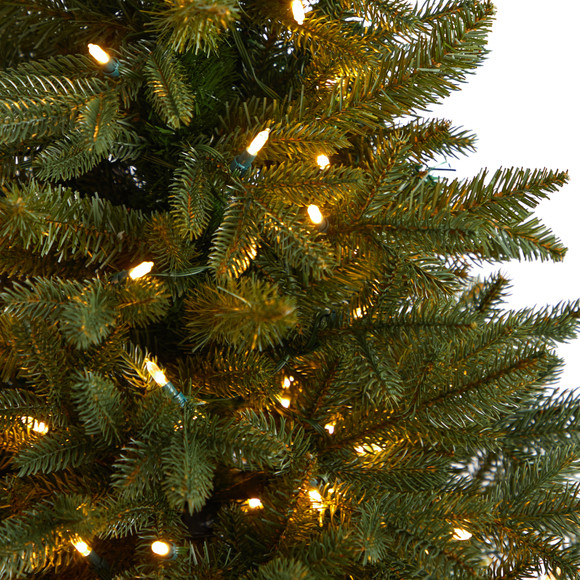 5 Colorado Aspen Pre-Lit Porch Tree with 200 LED lights and 497 Branches in Decorative Planter - SKU #T3282 - 3