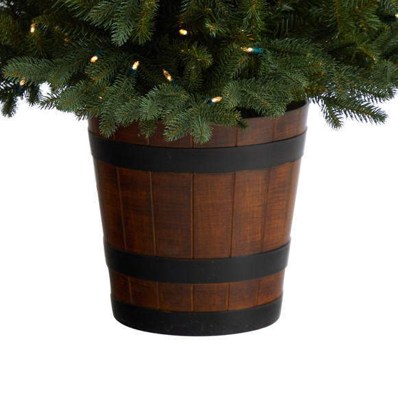 5 Colorado Aspen Pre-Lit Porch Tree with 200 LED lights and 497 Branches in Decorative Planter - SKU #T3282 - 4