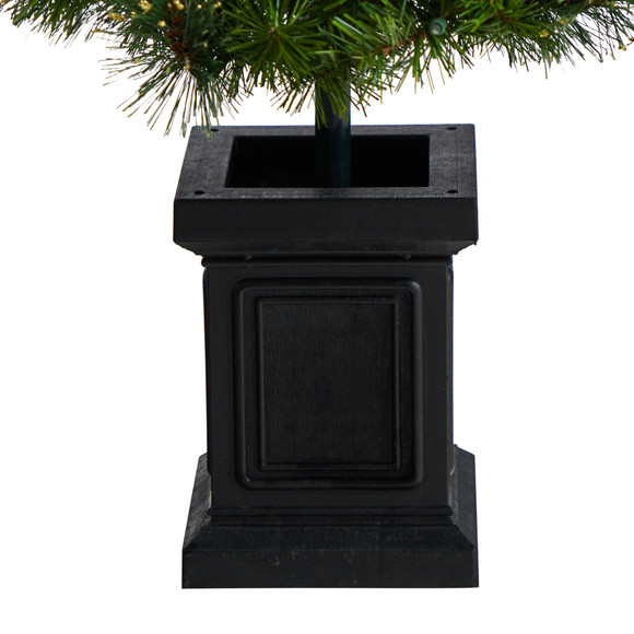 4 Topiary Tree with Decorative Ribbon Berries 70 Clear LED Lights and 109 Branches in Planter - SKU #T3285 - 5