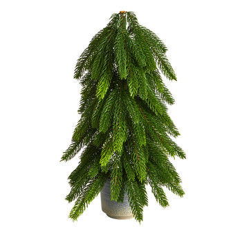 17 Christmas Pine Artificial Tree in Decorative Planter - SKU #T3369