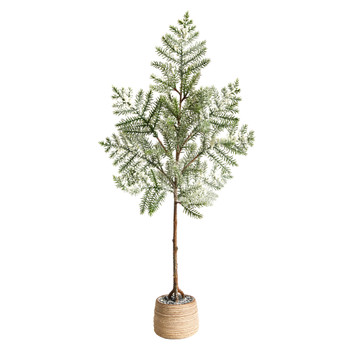 35 Frosted Pine Artificial Christmas Tree in Decorative Planter - SKU #T3373