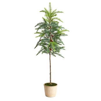 3.5 Winniepeg Artificial Pine Tree in Decorative Planter - SKU #T3374