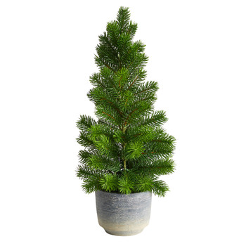22 Christmas Pine Artificial Tree in Decorative Planter - SKU #T3376