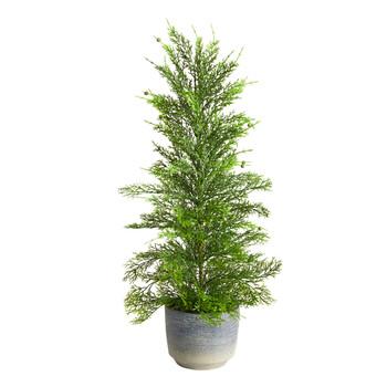 27 Californian Cedar Artificial Tree in Decorative Planter - SKU #T3377