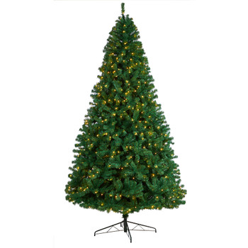 9 Northern Tip Artificial Christmas Tree with 650 Clear LED Lights and 1860 Bendable Branches - SKU #T3388