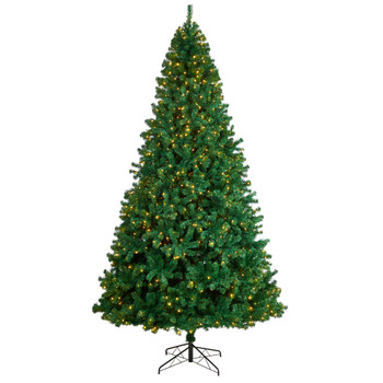 11 Northern Tip Artificial Christmas Tree with 1000 Clear LED Lights and 2720 Bendable Branches - SKU #T3390