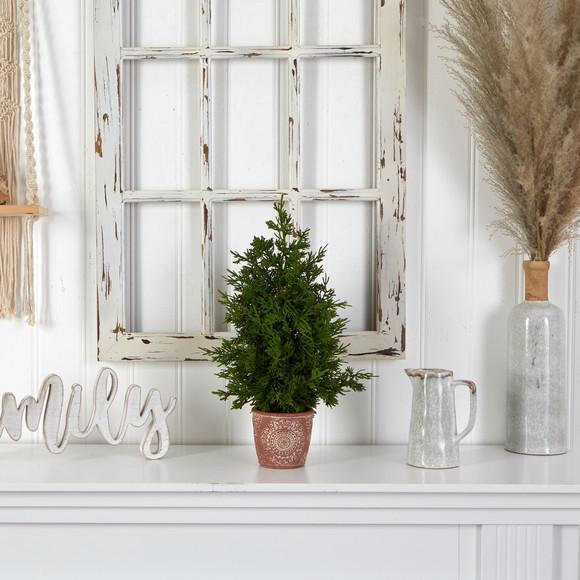 21 Cedar Pine Natural Look Artificial Tree in Decorative Planter - SKU #T3396 - 3