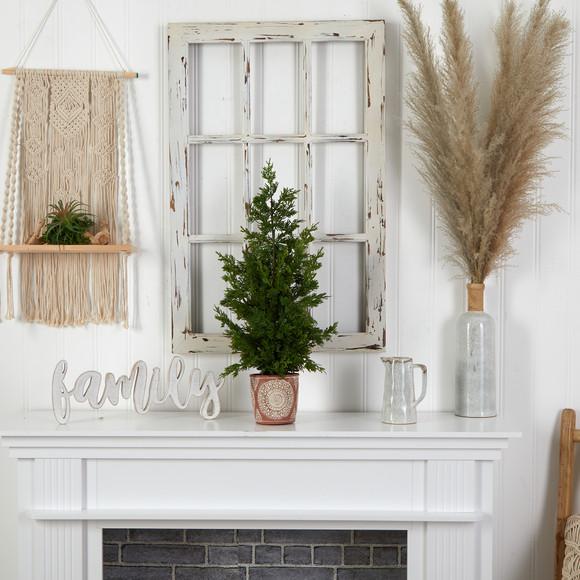 28 Cedar Pine Natural Look Artificial Tree in Decorative Planter - SKU #T3397 - 2