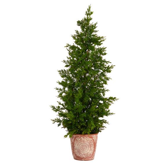 3 Cedar Natural Look Artificial Tree in Decorative Planter - SKU #T3398